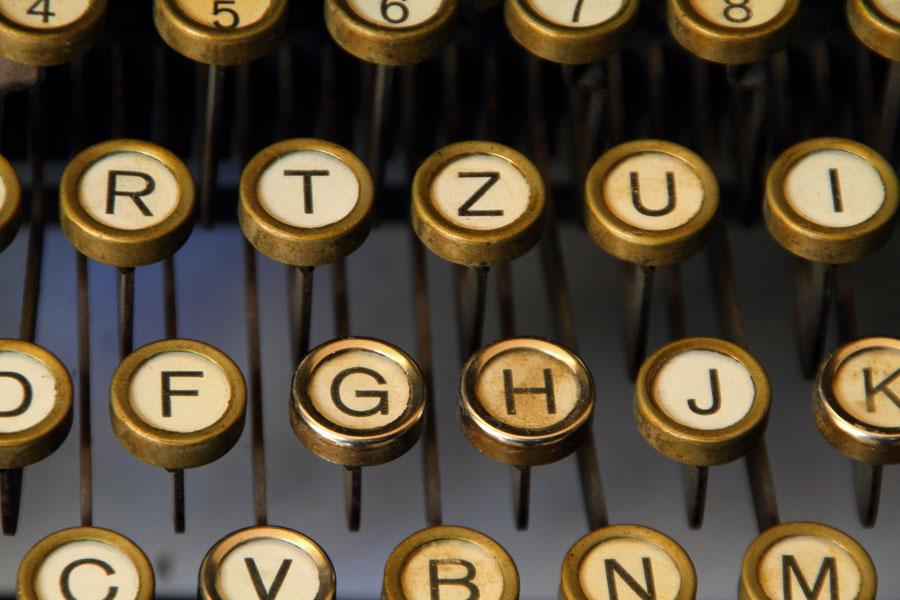 Eine Schreibmaschine in der Buchhalterei Dresden